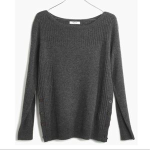 Madewell pinewood dark gray pullover sweater small